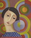 Obras de arte: Europa : España : Aragón_Huesca : Jaca : Simultánea-Homenaje a Sonia Delaunay