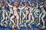 Obras de arte: Europa : España : Madrid : Madrid_ciudad : bailando con peces
