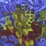 Obras de arte: America : México : Puebla : puebla_ciudad : PAISAJE CUBISTA