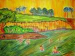 Obras de arte: America : Panamá : Panama-region : Parque_Lefevre : Tarde en el Rio