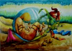 Obras de arte: America : México : Mexico_Distrito-Federal : Centro : germinacion