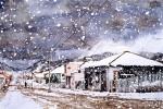 Obras de arte: America : Argentina : Tierra_del_Fuego : Ushuaia : Centro durante la nevada (R-21) .jpg