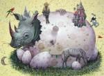 Obras de arte: America : Cuba : La_Habana : Vedado : ..en el nido del rinoceronte