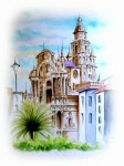 Obras de arte: Europa : España : Murcia : Murcia_ciudad : CATEDRAL VISTA DESDE OBISPADO
