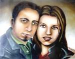 Obras de arte: America : México : Coahuila_de_Zaragoza : Torreón : con mi esposa