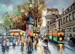 Obras de arte: America : Argentina : Buenos_Aires : Ciudad_de_Buenos_Aires : Louvre et Tramway, Belle Epoque