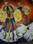 Obras de arte: America : Panamá : Colon-Panama : Barrio_Sur : Mujeres con flores
