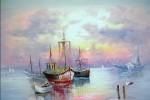 Obras de arte: Europa : Bielorrusia : Vitsyebsk : Artistas : Berth. Fishing boats.
