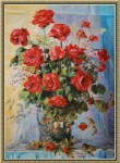 Obras de arte: Europa : Bielorrusia : Vitsyebsk : Artistas : Bouquet. Roses in a vase.