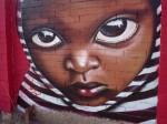 Obras de arte: Europa : España : Catalunya_Lleida : Lleida_ciudad : el niño de rayas