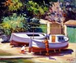 Obras de arte: Europa : España : Islas_Baleares : palma_de_mallorca : Reparando la barca