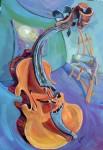 Obras de arte: Europa : España : Andalucía_Málaga : Rincón_de_la_Victoria : El lugar donde habitan las musas está a medio camino entre la mente y la obra, envuelto en el aire y arropado por el aterciopelado susurro de un violín, y la luz que descubre los secretos mágicos entre formas y colores, que cobran vida desde lo inexistent