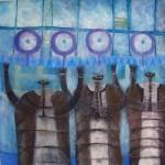 Obras de arte: America : México : Mexico_Distrito-Federal : Coyoacan : SOSTENIENDO LA CRISIS