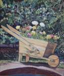 Obras de arte: America : Chile : Region_Metropolitana-Santiago : pirque : Carreta con Flores