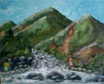 Obras de arte: America : Puerto_Rico : San_Juan_Puerto_Rico : GUAYANILLA : NINOS PESCANDO