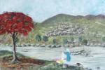 Obras de arte: America : Puerto_Rico : San_Juan_Puerto_Rico : GUAYANILLA : LAVANDERA