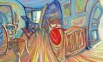 Obras de arte: Europa : España : Andalucía_Málaga : Rincón_de_la_Victoria : Mi humilde homenaje a papá Van Gogh. Interpreto la imagen de su habitación, entumecido y nervioso como un estudiante de violín interpreta la primavera de Vivaldi, con todo mi respeto y amor al maestro que da todo al arte a cambio de nada en vida, y nos lo