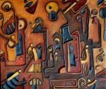 Obras de arte: America : Uruguay : Canelones : Parque_de_Carrasco : Jeroglifico en relieve V