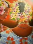 Obras de arte: America : Panamá : Colon-Panama : Barrio_Sur : Mujeres con flores # 2