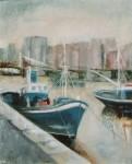 Obras de arte: Europa : España : Euskadi_Bizkaia : Bilbao : Pesquero en el muelle de Santurce