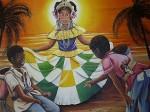 Obras de arte: America : Panamá : Colon-Panama : Barrio_Sur : Jugando canicas para Minina.