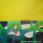 Obras de arte: America : Chile : Valparaiso : Valparaíso : a pata suelta bajo un cielo amarillo