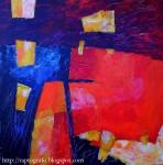 Obras de arte: America : Chile : Valparaiso : Valparaíso : cielo tinto