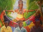 Obras de arte: America : Panamá : Colon-Panama : Barrio_Sur : Merced y los violinistas