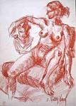 Obras de arte: Europa : España : Murcia : cartagena : Desnudo (apunte del natural)23
