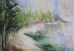 Obras de arte: America : Argentina : Mendoza : lujan : El lago I