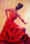 Obras de arte: Europa : España : Murcia : cartagena : La del vestido rojo