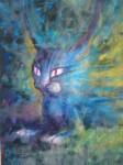 Obras de arte: America : México : Veracruz-Llave : coatzacoalcos : gato azul