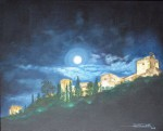 Obras de arte: Europa : España : Andalucía_Granada : churriana : La Alhambra noctura