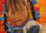 Obras de arte: America : México : Baja_California_Sur : lapaz : Niña Purépecha