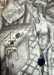 Obras de arte: America : México : Chiapas : Tapachula : Portapinceles TRABAJNDO EN EL TALLER