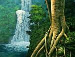 Obras de arte: America : Cuba : Santiago_de_Cuba : Stgo_ciudad : Contemplando la cascada