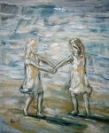 Obras de arte: Europa : España : Catalunya_Tarragona : Banyeres_Penedes : Juegos en la playa
