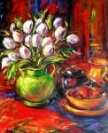 Obras de arte: Europa : España : Andalucía_Málaga : Torre_del_Mar : Tulipanes en rojo