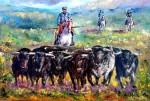 Obras de arte: Europa : España : Andalucía_Málaga : Torre_del_Mar : Toros en el campo