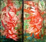 Obras de arte: America : Colombia : Distrito_Capital_de-Bogota : Bogota : ALMAS GEMELAS 1