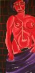 Obras de arte: America : Cuba : Santiago_de_Cuba : Palma_Soriano : Desnudo en rojo