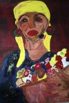 Obras de arte: America : Cuba : Santiago_de_Cuba : Palma_Soriano : La vendedora de flores