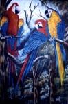 Obras de arte: America : Venezuela : Carabobo : san_diego : Guacamayas en el amazonas