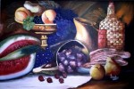 Obras de arte: America : Venezuela : Carabobo : san_diego : Uvas y Manzanas (bodegon)