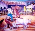 Obras de arte: America : Venezuela : Carabobo : san_diego : Manga de Coleo Deporte Nacional de Venezuela