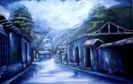 Obras de arte: America : Venezuela : Carabobo : san_diego : Calle Camejo dia lluvioso en Ejido Merida