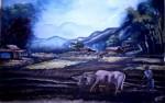 Obras de arte: America : Venezuela : Carabobo : san_diego : Arando la Tierra Sanare Edo Lara Venezuela