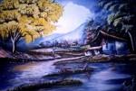 Obras de arte: America : Venezuela : Carabobo : san_diego : Paisaje en Humocaro Araguaney Arbol Nacional