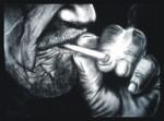 Obras de arte: America : México : Nuevo_Leon : Monterrey : Anciano fumando