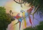 Obras de arte: America : Venezuela : Delta_Amacuro : tucupita : Macao Ara Rauna